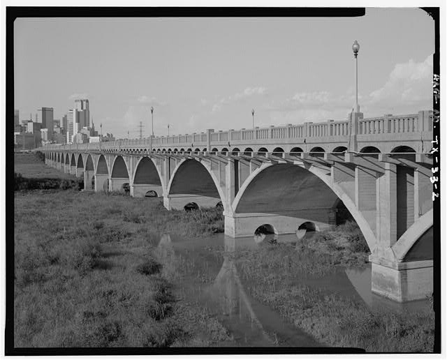 2.  3/4 VIEW FROM SW. - Dallas-Oak Cliff Viaduct, Spanning Trinity River at Houston Street, Dallas, Dallas County, TX