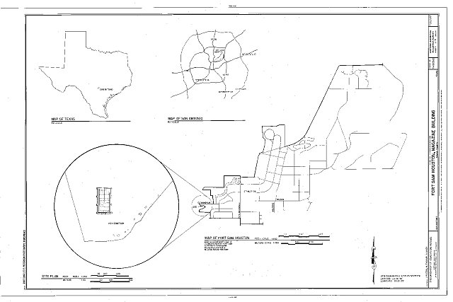 Site Plan - Fort Sam Houston, Magazine Building, San Antonio, Bexar County, TX