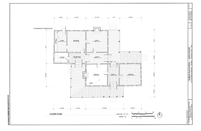 Floor Plan - Dublin Plantation, Main House, 3135 Cottonwood Creek Road, Kingsbury, Guadalupe County, TX