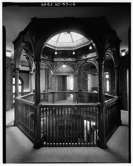 14.  INTERIOR, SECOND FLOOR, CENTRAL HALL, STRUCTURE FOR SKYLIGHT - Keith-Brown House, 529 East South Temple, Salt Lake City, Salt Lake County, UT