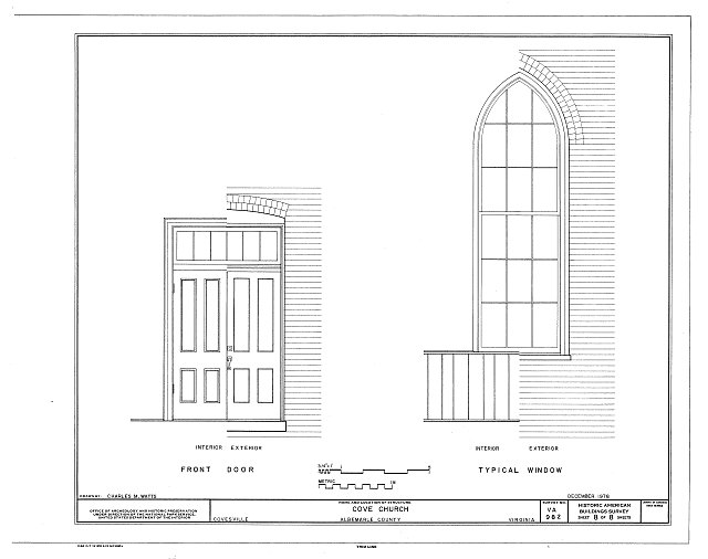 HABS VA,2-COVS,1- (sheet 8 of 8) - Cove Presbyterian Church, U.S. Route 29, Covesville, Albemarle County, VA