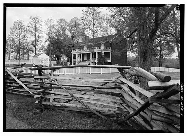 4.  PERSPECTIVE VIEW OF SOUTH (REAR) AND EAST SIDE - McLean House, Appomattox, Appomattox County, VA