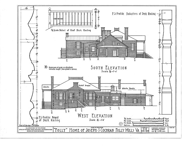 HABS VA,8-STAU.V,1- (sheet 6 of 10) - Folly Farm, Folly Mills Creek, Staunton, Staunton, VA