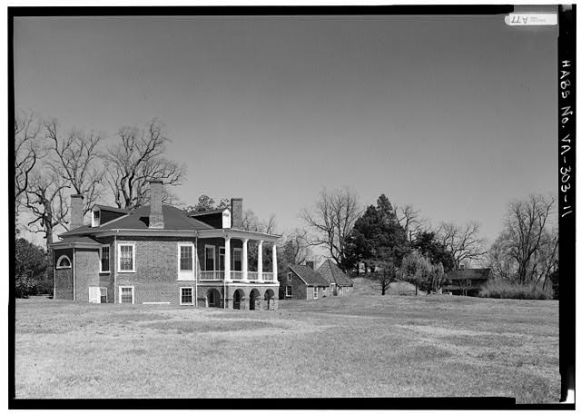 GENERAL VIEW FROM SOUTHWEST (1986) - Poplar Forest, State Route 661, Forest, Bedford County, VA