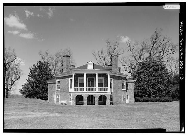 GENERAL VIEW OF SOUTH ELEVATION (1986) - Poplar Forest, State Route 661, Forest, Bedford County, VA