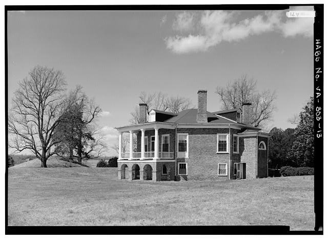 GENERAL VIEW FROM SOUTHEAST (1986) - Poplar Forest, State Route 661, Forest, Bedford County, VA