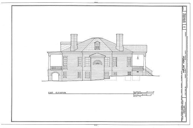 HABS VA,10-BED.V,1- (sheet 8 of 22) - Poplar Forest, State Route 661, Forest, Bedford County, VA