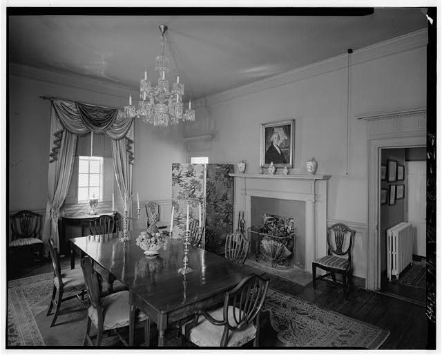 29.  DINING ROOM, LOOKING TO NORTHWEST CORNER - Berkeley, State Route 5 vicinity, Charles City, Charles City, VA
