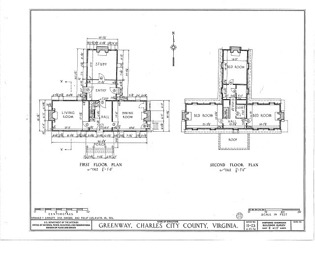 HABS VA,19-CHARC.V,1- (sheet 2 of 17) - Greenway, State Route 5 vicinity, Charles City, Charles City, VA