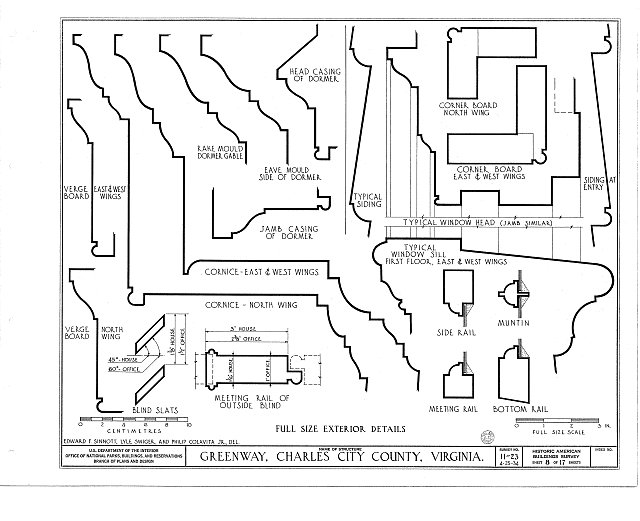 HABS VA,19-CHARC.V,1- (sheet 8 of 17) - Greenway, State Route 5 vicinity, Charles City, Charles City, VA