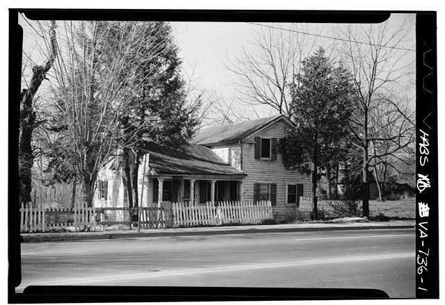 1.  NORTH FRONT, FROM THE NORTHEAST (2' x 3' negative; 3 1/4' x 5' print) - 170 East Broad Street (House), Falls Church, Falls Church, VA