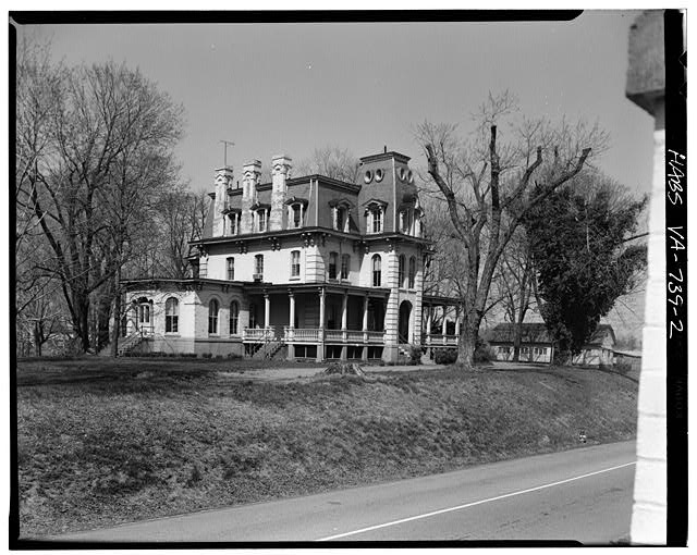 2.  SOUTH FRONT AND WEST SIDE - Maplewood, 7676 Old Springhouse Road, McLean, Fairfax County, VA