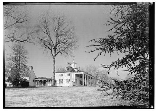 8.  VIEW FROM THE SOUTH - Mount Vernon, Mount Vernon Memorial Highway, Mount Vernon, Fairfax County, VA