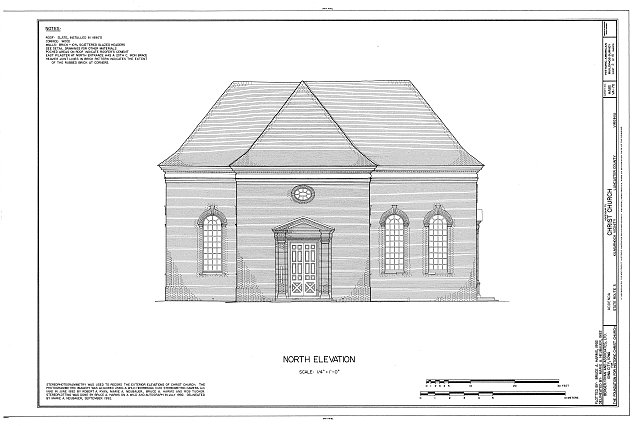 HABS VA,52-KILM.V,1- (sheet 2 of 15) - Christ Church, State Route 3, Kilmarnock, Lancaster County, VA