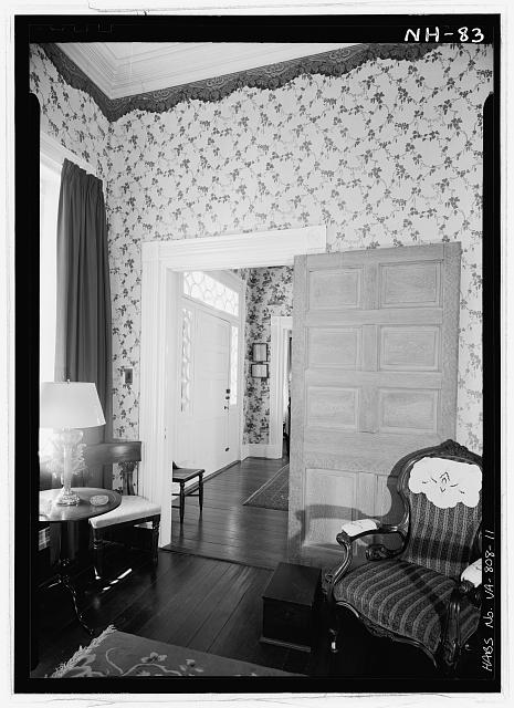 11.  INTERIOR, PARLOR, DETAIL OF DOORWAY - Cessford, U.S. Route 13, Eastville, Northampton County, VA