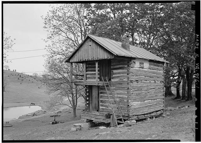 1.  GENERAL VIEW FROM NORTHEAST - Winterview Farm Log Cabin, Interstate Highway 81, Lexington, Lexington, VA