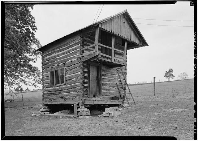2.  GENERAL VIEW FROM SOUTHEAST - Winterview Farm Log Cabin, Interstate Highway 81, Lexington, Lexington, VA