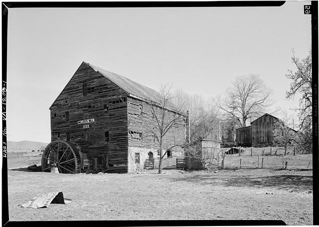 1.  GENERAL VIEW FROM WEST - Miller's Mill, Route 60, 12 miles West of Lexington, Lexington, Lexington, VA