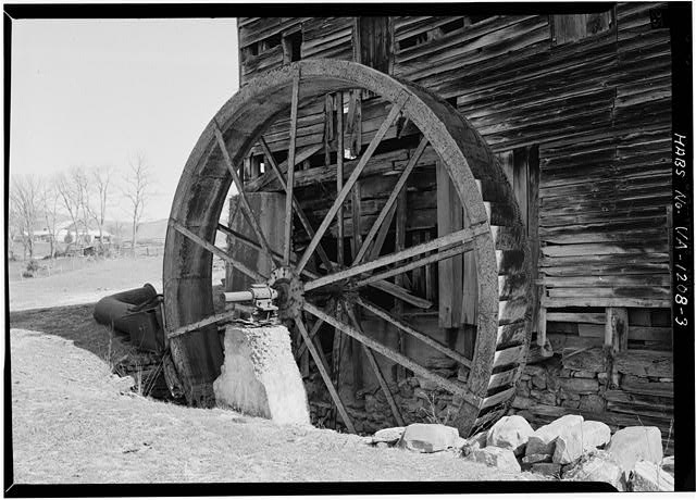3.  DETAIL SHOWING WHEEL - Miller's Mill, Route 60, 12 miles West of Lexington, Lexington, Lexington, VA