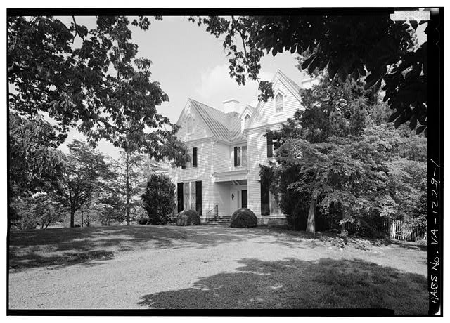 1.  WEST FRONT FROM SOUTHWEST SHOWING HOUSE AND ENVIRONS - Kenmuir (Main House), Route 613, Trevilians, Louisa County, VA