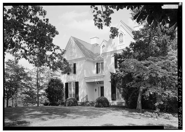 2.  WEST FRONT FROM SOUTHWEST - Kenmuir (Main House), Route 613, Trevilians, Louisa County, VA