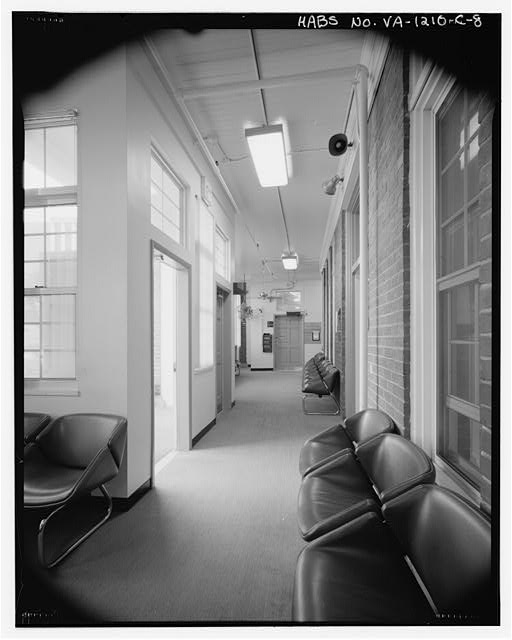 8.  First floor, enclosed porch looking south - Southern Branch of the National Home for Disabled Volunteer Soldiers, Barracks O, 100 Emancipation Avenue, Hampton, Hampton, VA
