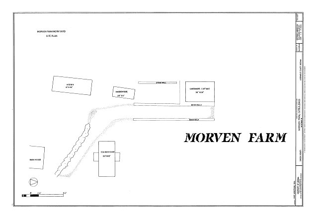 HABS VA-1378-A (sheet 1 of 9) - Morven Farm, Outbuildings, Off of Route 20, Simeon, Albemarle County, VA