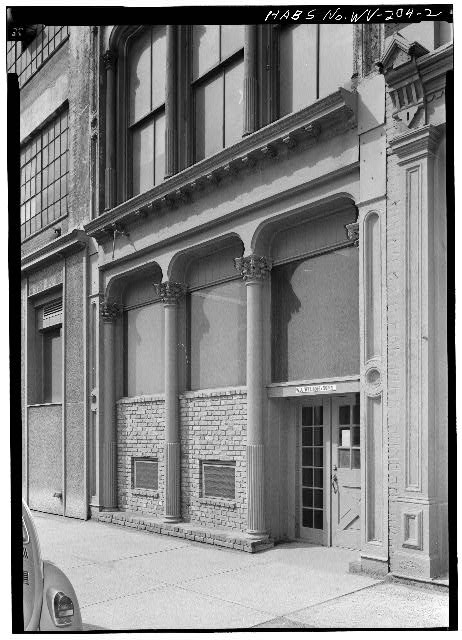 2.  FIRST FLOOR OF EAST FRONT - Joseph Speidel & Company Building, 1417 Main Street, Wheeling, Ohio County, WV