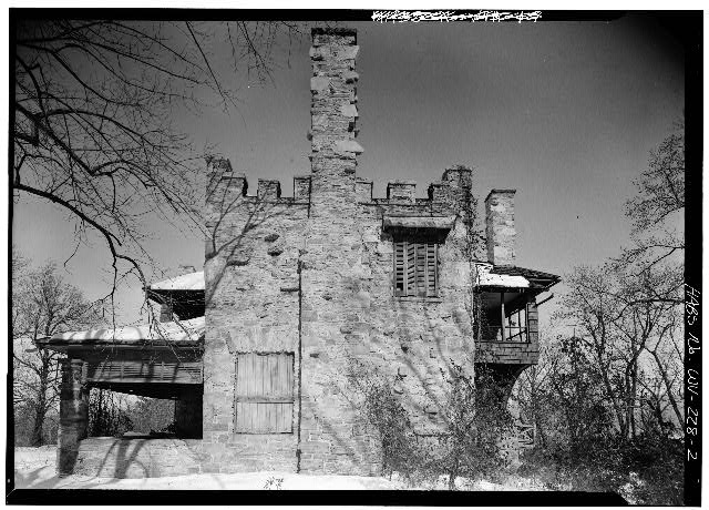 2.  SIDE FACADE - Scottish Castle, Bolivar Heights, Harpers Ferry, Jefferson County, WV