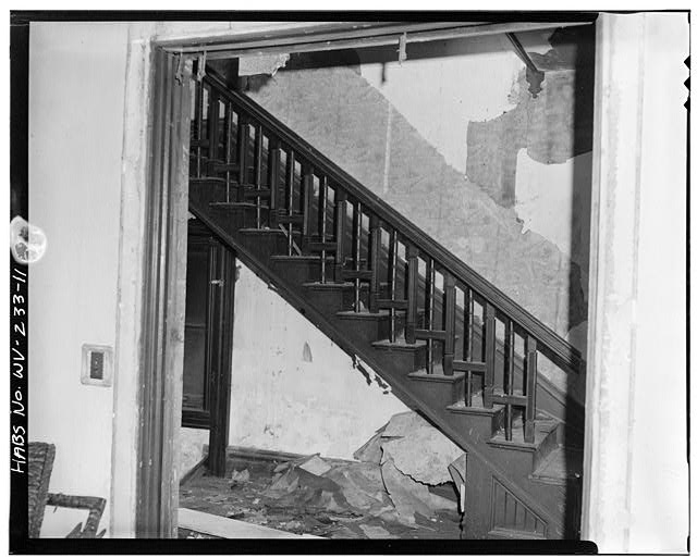 11.  Stairs going upstairs from front door - 1302 Third Avenue (House), 1302 Third Avenue, Huntington, Cabell County, WV