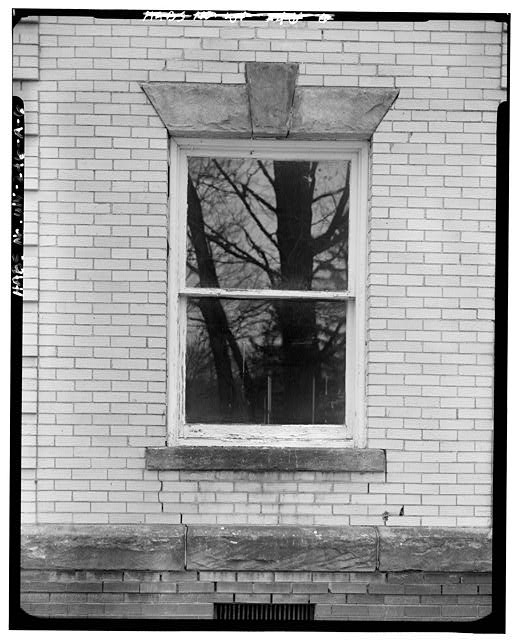 6.  WINDOW ON NORTHWEST SIDE - Alderson-Broaddus College, Whitescarver Hall, West side of U.S. 119/250, North of covered bridge, Philippi, Barbour County, WV