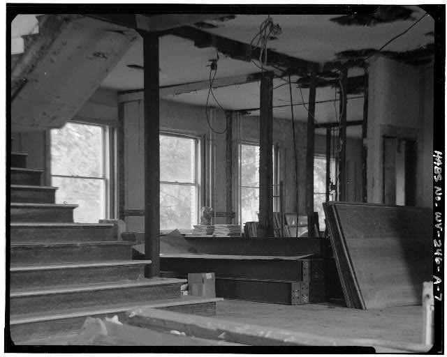 7.  LOBBY FACING NORTH - Alderson-Broaddus College, Whitescarver Hall, West side of U.S. 119/250, North of covered bridge, Philippi, Barbour County, WV
