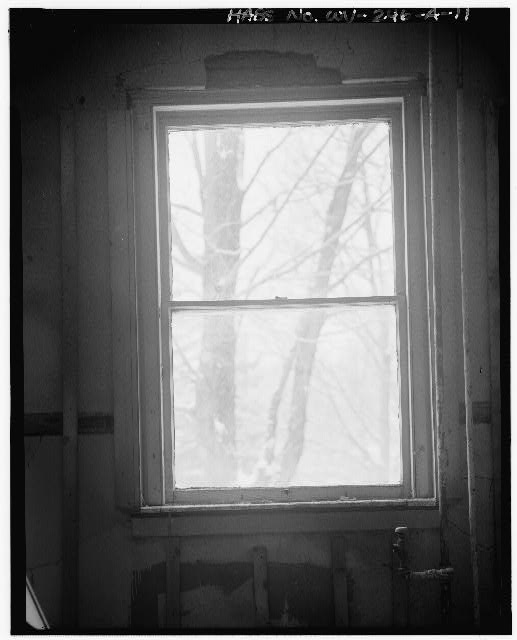 11.  FIRST FLOOR, INTERIOR OF WINDOW SHOWN IN WV-246-A-6 - Alderson-Broaddus College, Whitescarver Hall, West side of U.S. 119/250, North of covered bridge, Philippi, Barbour County, WV
