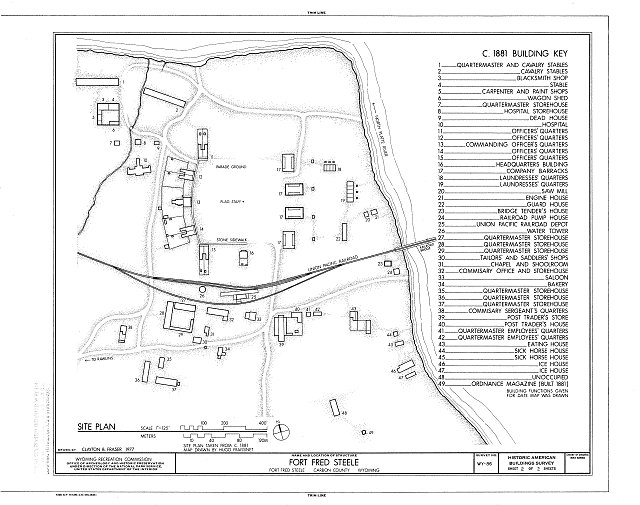 Site Plan - Fort Fred Steele, Fort Steele, Carbon County, WY