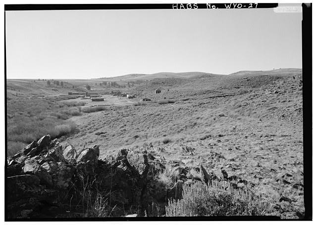 October 1974. GENERAL VIEW FROM EAST (AREA OF WILLIAM JACKSON'S VIEW) - South Pass City, General View, South Pass City, Fremont County, WY