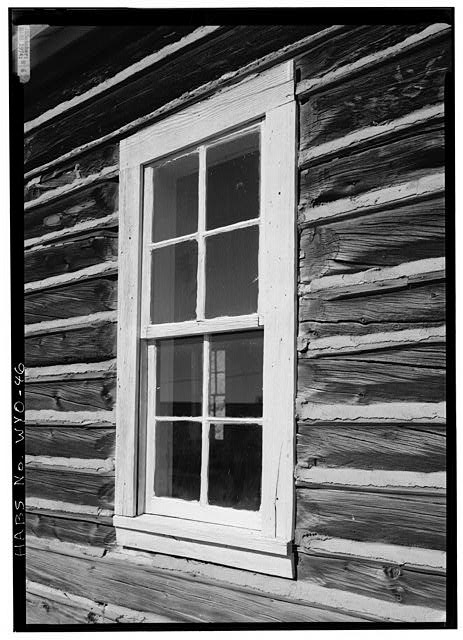 Detail of window on south side. - School House, South Pass Avenue near Jefferson Street, South Pass City, Fremont County, WY