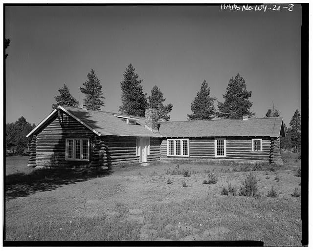 View southwest - Norris Soldiers Station, Norris Campgrounds & Gibbon River vicinity, Lake, Teton County, WY