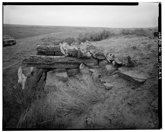 4.  ROOF AND NORTHWEST SIDE, VIEW TO SOUTHEAST - Rock Well Homestead, Dugout, 15 miles Southeast of Wright, Wright, Campbell County, WY