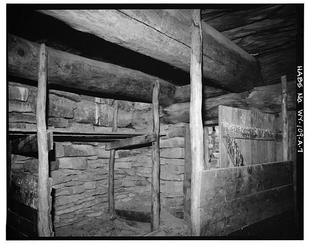 7.  INTERIOR, NORTHEAST CORNER - Rock Well Homestead, Dugout, 15 miles Southeast of Wright, Wright, Campbell County, WY