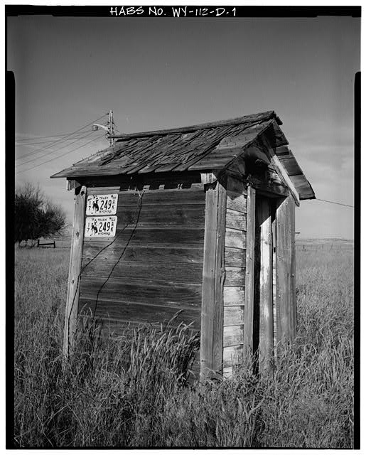 1.  WEST SIDE AND SOUTH FRONT - Dunlap Ranch, Privy, Gillette, Campbell County, WY