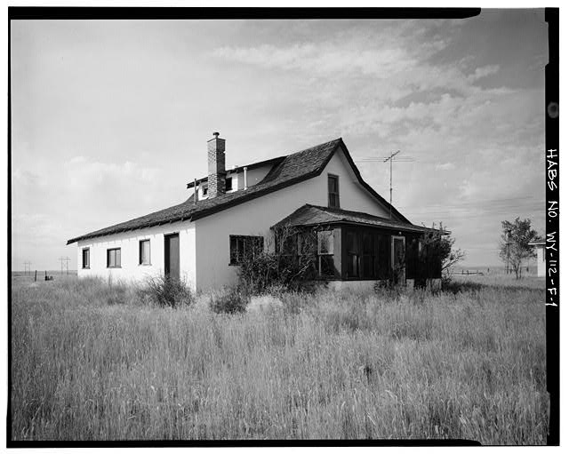 1.  EAST SIDE AND NORTH FRONT - Dunlap Ranch, Homestead House, Gillette, Campbell County, WY
