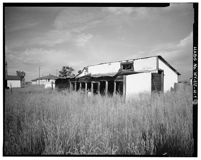 1.  SOUTH FRONT AND EAST SIDE - Dunlap Ranch, Chicken House-Storage, Gillette, Campbell County, WY