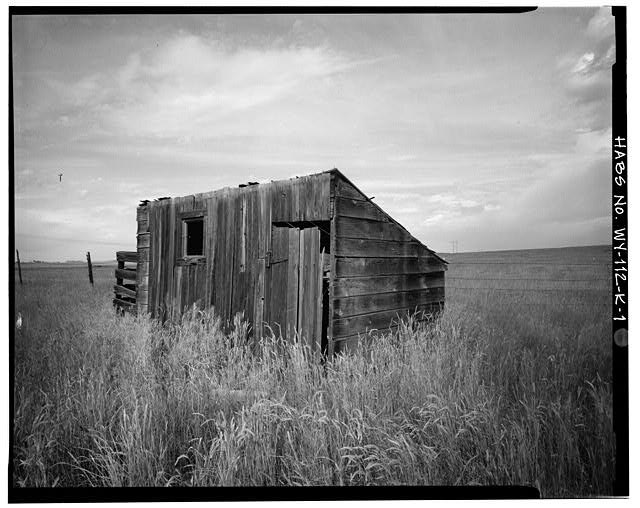 1.  SOUTH FRONT AND EAST SIDE - Dunlap Ranch, Chicken Coop, Gillette, Campbell County, WY