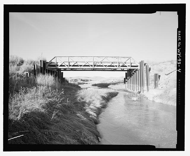 South side of bridge, view to north-northeast - North Fork of Crazy Woman Creek Bridge, Spanning North Fork of Crazy Woman Creek at Middle Fork Road, Buffalo, Johnson County, WY
