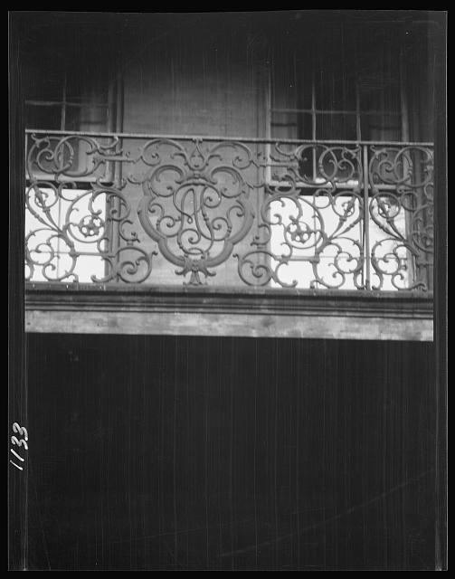 Balcony with wrought iron, New Orleans