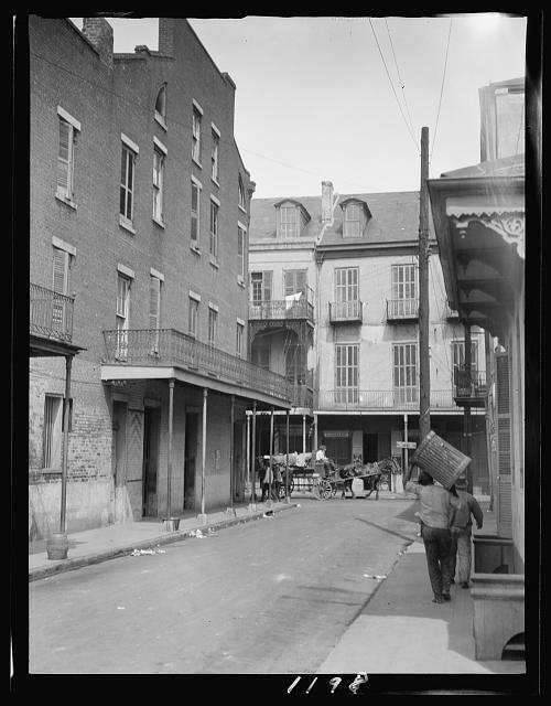 View down a street, New Orleans