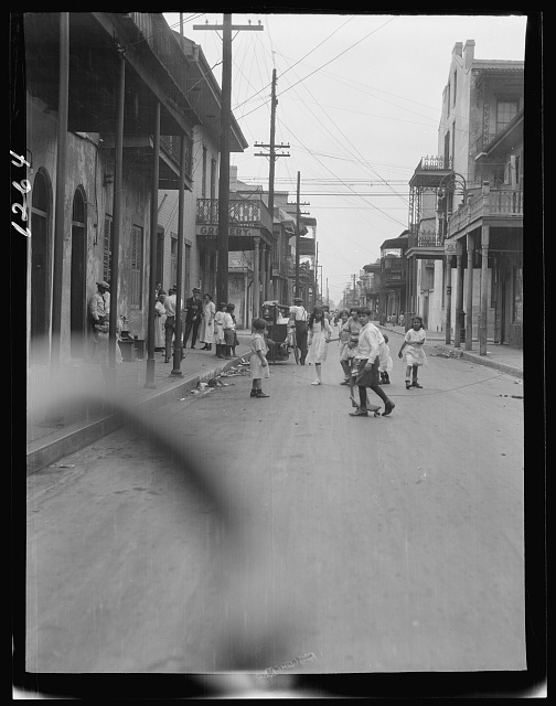 Children in a French Quarter street, New Orleans
