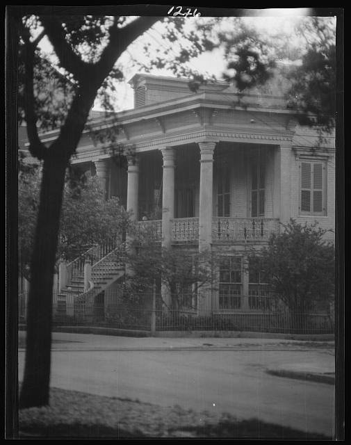Two-story house with porch, New Orleans or Charleston, South Carolina