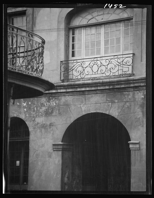 Cabildo arch and window, New Orleans