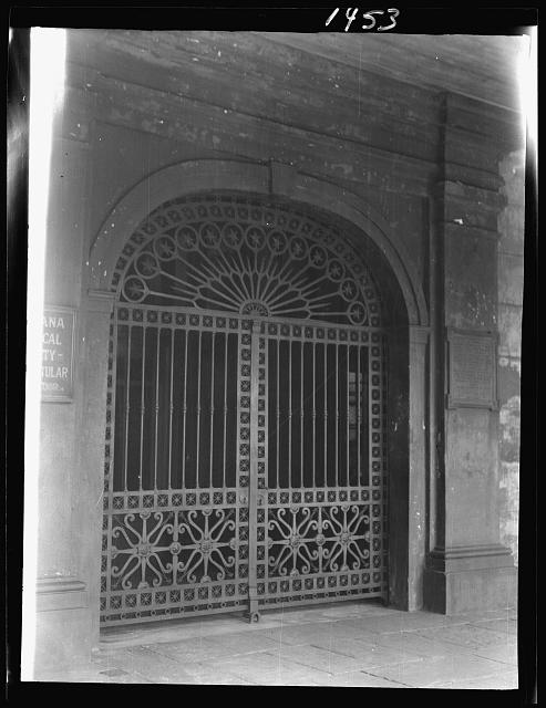 Entrance gateway of the Cabildo, New Orleans